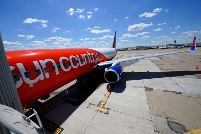 Sun Country Airlines began service to Minneapolis, Friday, May 14, 2021, at the Cincinnati/Northern Kentucky International Airport in Hebron, Ky.