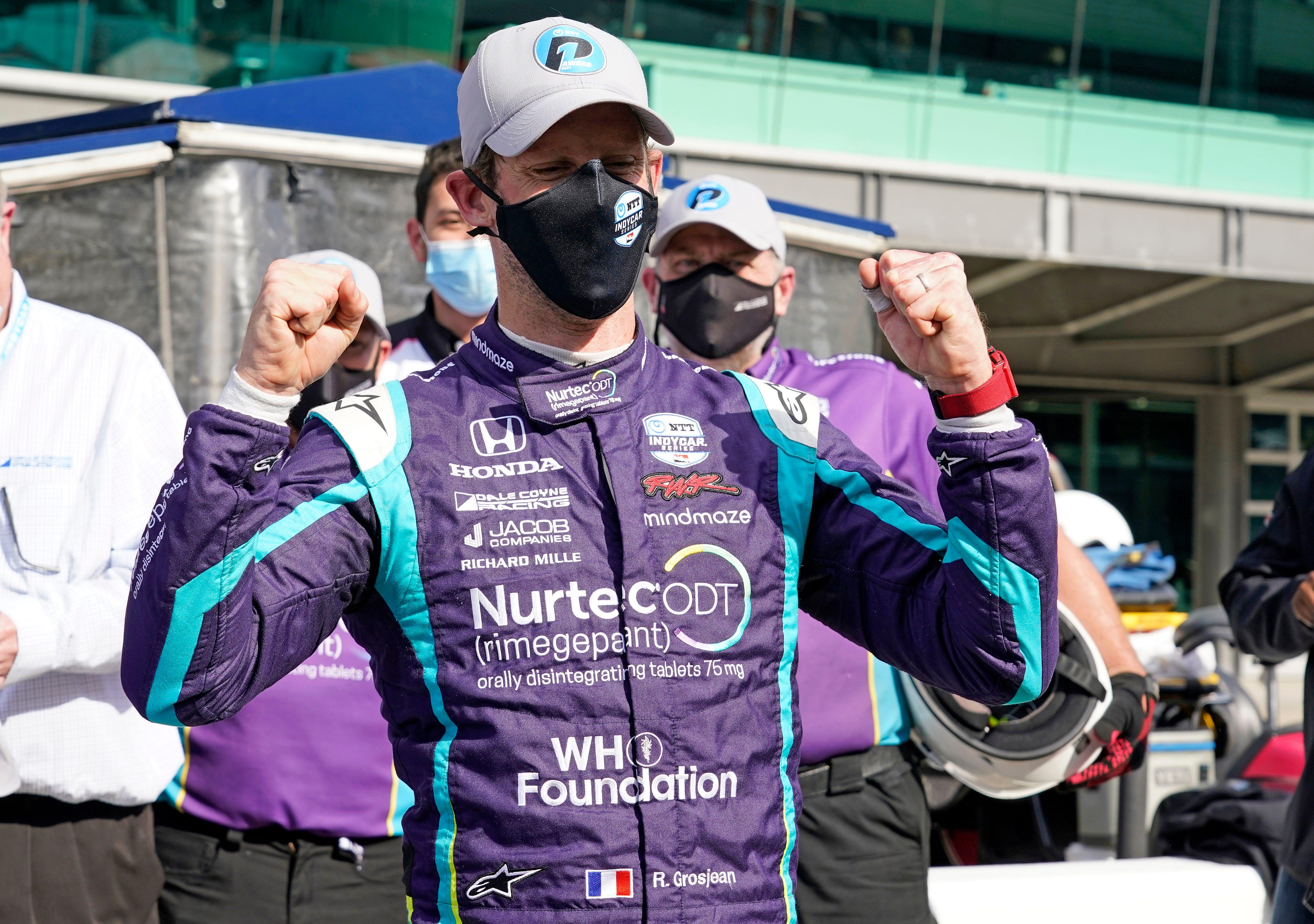 Rookie Grosjean takes GMR Grand Prix pole