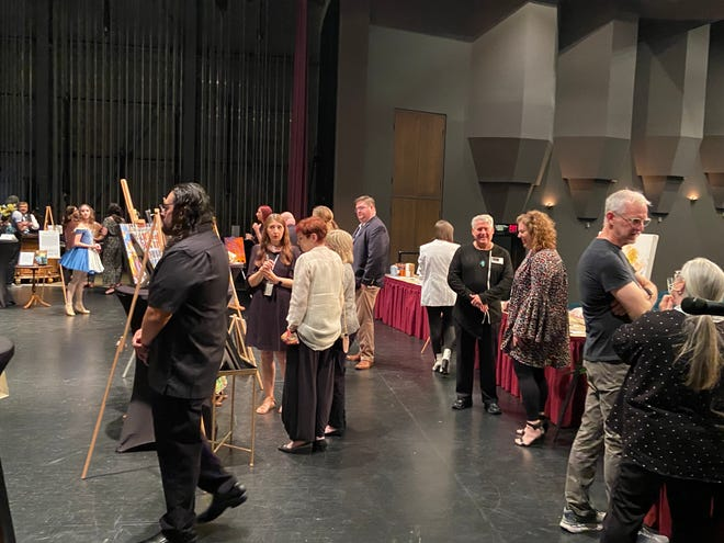 Artists and art supporters mingle during The Arts Backstage at The Ned in Downtown Jackson on May 11, 2021.