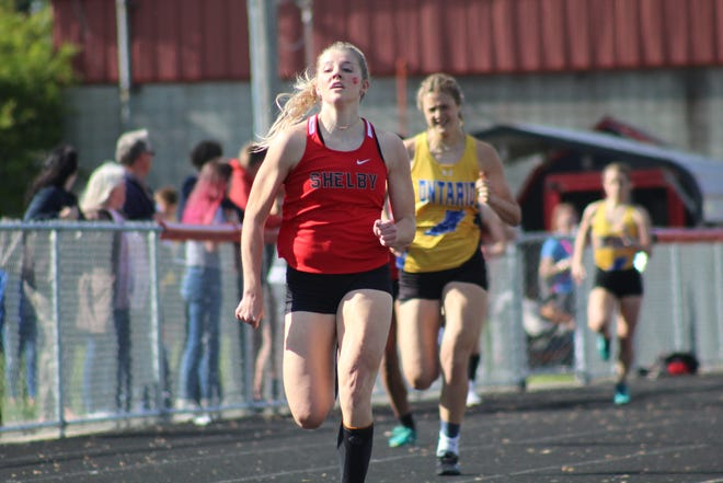 Shelby's Haylee Baker was an All-Mid-Ohio Athletic Conference first-teamer in four events.