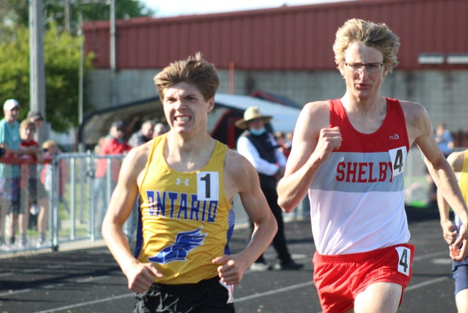 Ontario's Miles Meisse was an All-Mid-Ohio Athletic Conference first-teamer in three events.