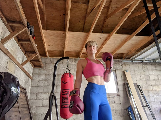 Kelsey Miller, originally from Marion, is training to compete in her first ever Muay Thai competition in Iowa in June of this year.