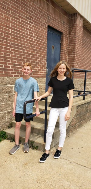 Dylan Prins and Deanna Human, seventh graders at Pinkston Middle School, recently received honors from the Arkansas Literacy Association's state Student Writing Showcase.