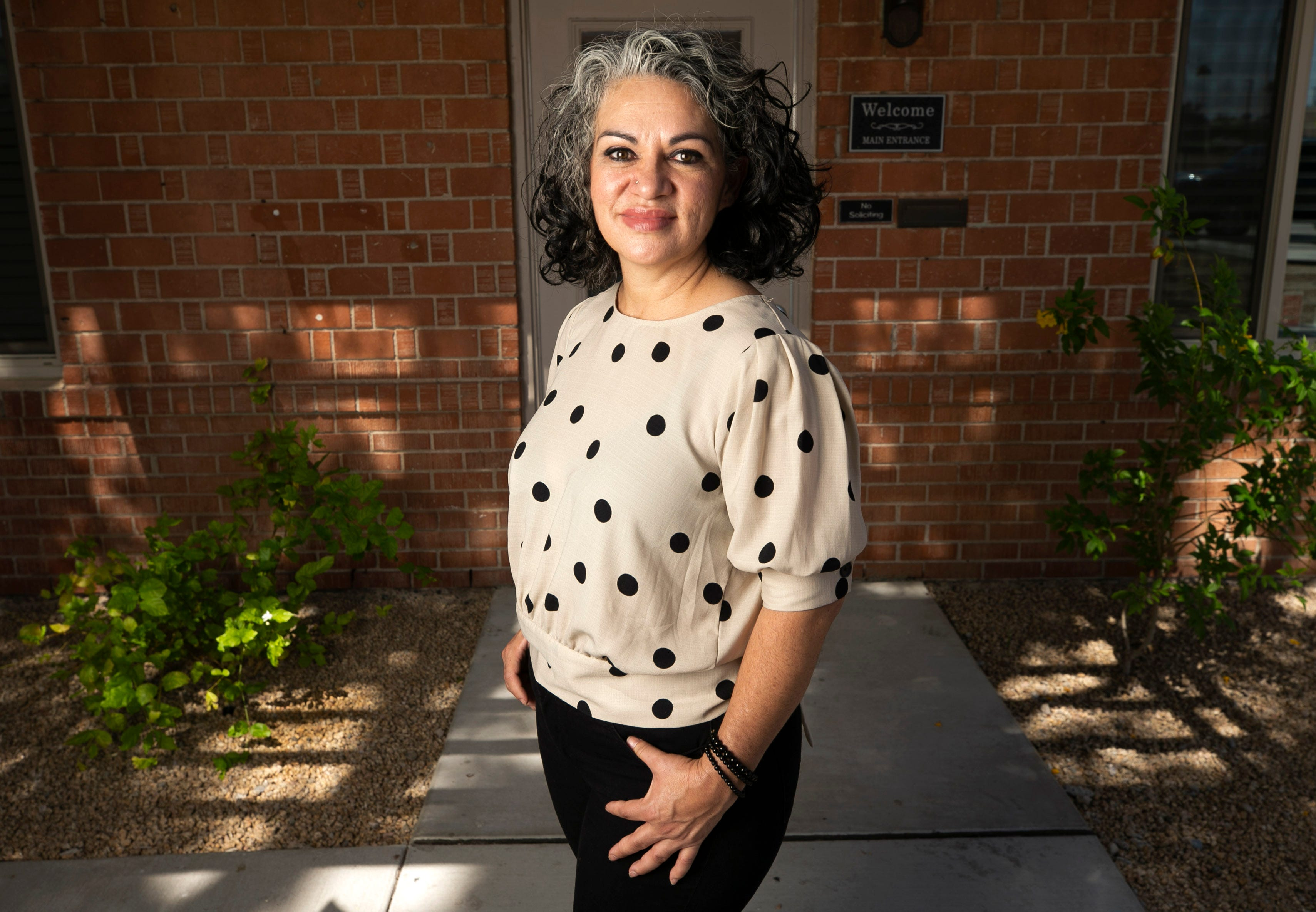 Maria Valenzuela is the domestic program director for Esperança, an organization providing health care services to the Arizona Latino community and developing nations around the world. She is seen at its Phoenix offices on May 14, 2021.