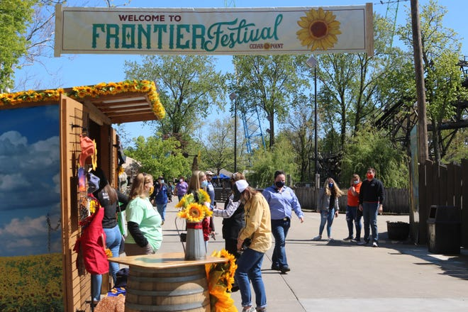 As gates first opened Friday, Cedar Point is kicking off the season highlighting its annual Frontier Festival and partnership with Prayers From Maria, a nonprofit organization raising money for childhood cancer research.