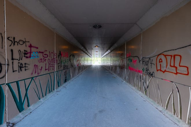 The city of Port Huron is rehabbing the tunnel under Military Street on the Blue Water River Walk. The improvements will include new lighting, security cameras and a community mural.