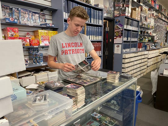 Rainbow Comics, Cards & Collectibles go through ten or more binders a week to find cards good enough to sell.