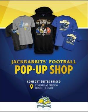 Jackrabbits Football pop-up shop in Frisco