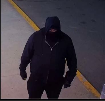 Suspect in two burglaries that stole $29,000 worth of liquor and cigarettes.