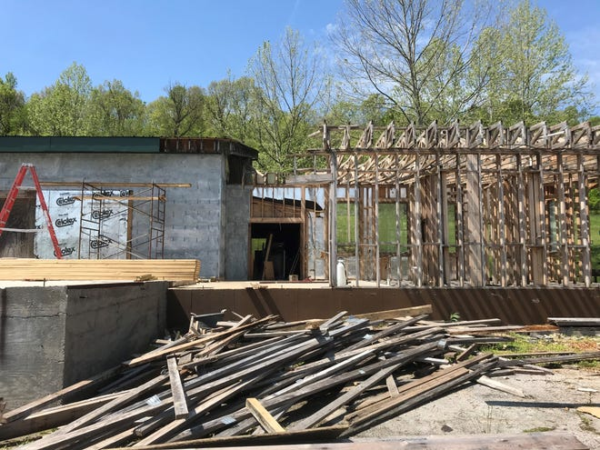 The former Snow Bluff Ski Area lodge is being remodeled. A man from Texas, who grew up in Branson, bought the building and surrounding 32 acres off of Highway 13 three years ago.