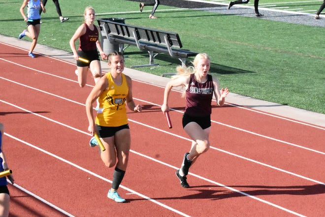Region 9 track and field runners compete during a race at Desert Hills High School earlier this season.