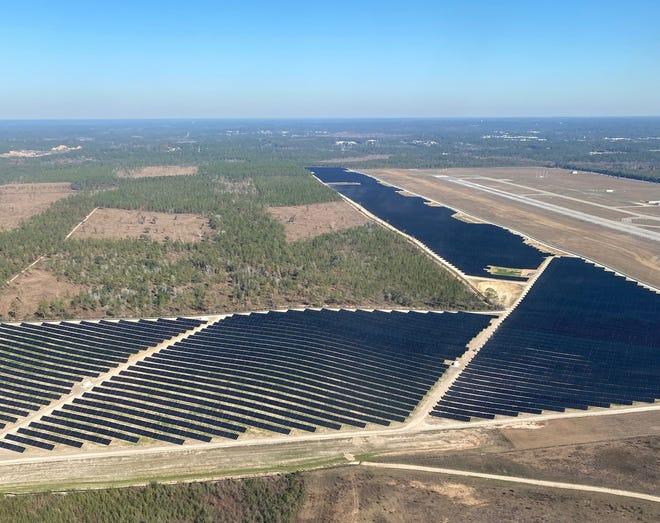 Tallahassee's airport solar farm.