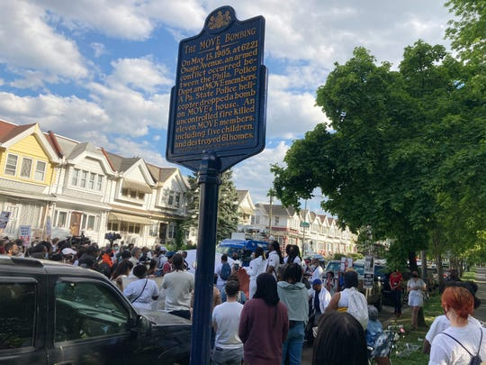 Masses of people gathered Thursday near the site of the 1985 Black MOVE corporate headquarters bombing in Philadelphia.
