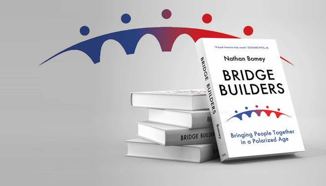 """Nathan Bomey's book, """"Bridge Builders: Bringing People Together in a Polarized Age,"""" available in May 21, 2021."""