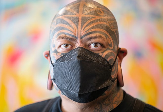 """Pineapple Tangaroa, an Austin body modification expert, stars in the movie """"Drunk Bus,"""" based on his own life experiences."""