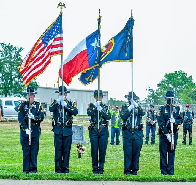 The Amarillo Police Department's honor guard participates in Saturday's ceremony.
