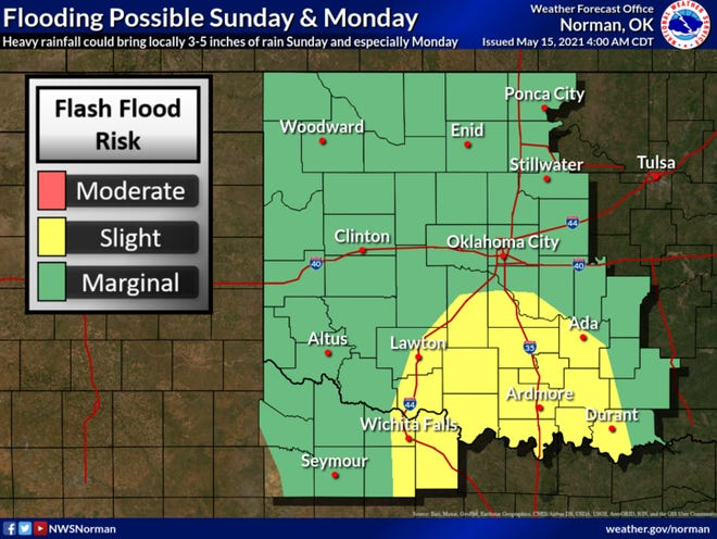 An active weather period will begin Sunday and continue through next week. Periods of thunderstorms with heavy rainfall could bring flooding.