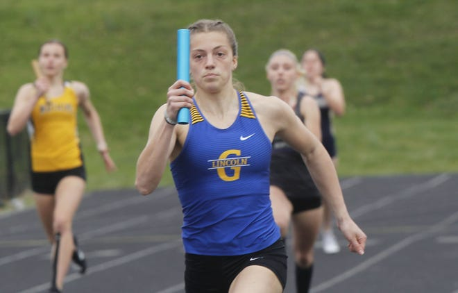 Gahanna sophomore Camden Bentley holds the fastest time in both the 100 and 300 meter hurdles at 13.87 seconds and 44.70 seconds, respectively.