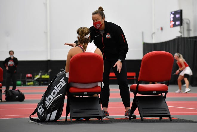 Ohio State coach Melissa Schaub's 15th-seeded Buckeyes won the Big Ten title this year after a season full of challenges.