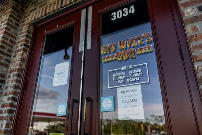 Big Mike's BBQ istemporarily closed at the Houma location at 3034 Barrow St.