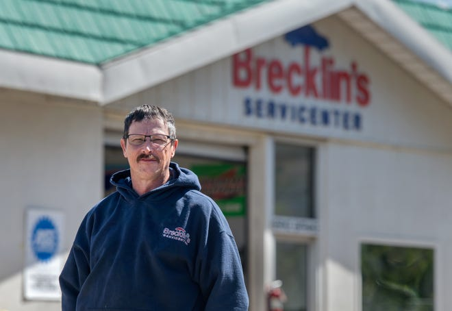 Tom Brecklin has been the owner and chief mechanic of Brecklin's Servicenter, 119 Walnut St. in Washington, for 40 years.
