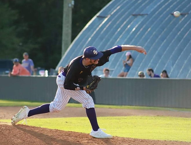 SBHS pitcher Rett Bowman was named first-team all-district as chosen by the coaches of 3-4A.