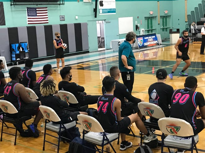 """Royal Palm Beach boys volleyball coach Sal Ciano, watching from the sideline during Saturday's state semifinal loss to Orlando Freedom, said the season was """"a wild ride"""" for his previously unbeaten Wildcats."""