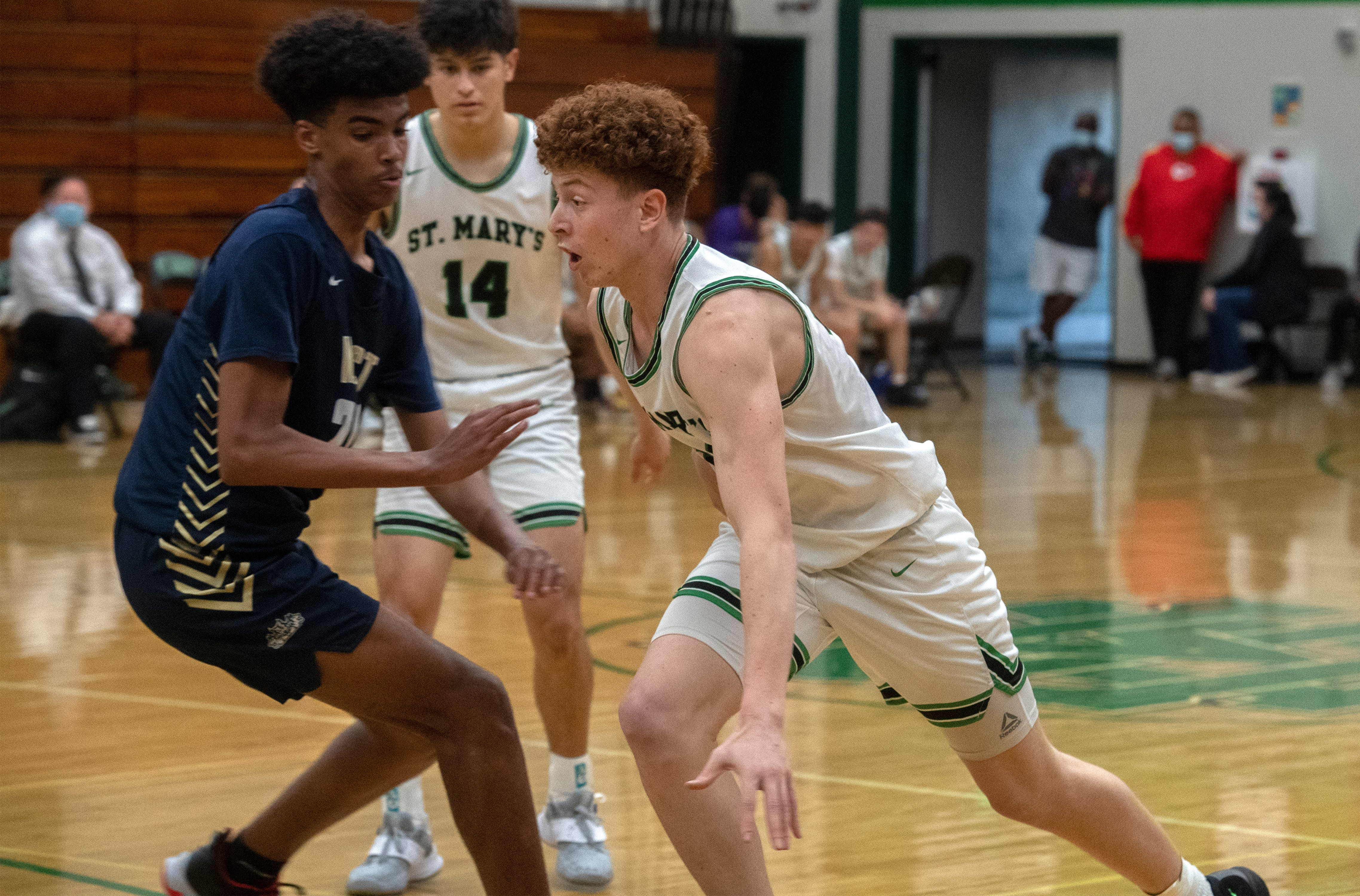 recordnet.com - Justin Frommer, Stockton Record - Roy Itcovichi carves his role with St. Mary's basketball, while also worrying about his family's safety