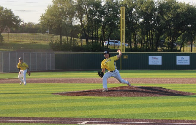 Stephenville's Reece Elston was on the mound as the Jackets walked away with a 6-1 victory against the Decatur Eagles in Game 2 of their playoff series on Friday evening in Weatherford.