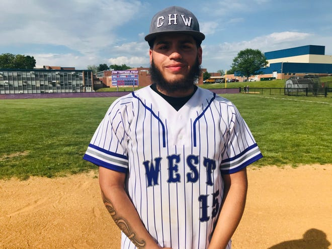 Cherry Hill West senior German Beltran had a homer and four RBIs in the Lions' 17-4 victory over Cherry Hill East on Saturday.