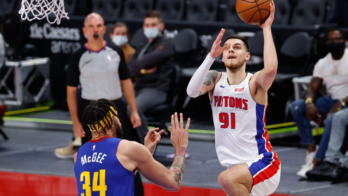 Shorthanded Detroit Pistons fall to Nikola Jokic, Denver Nuggets at LCA, 104-91