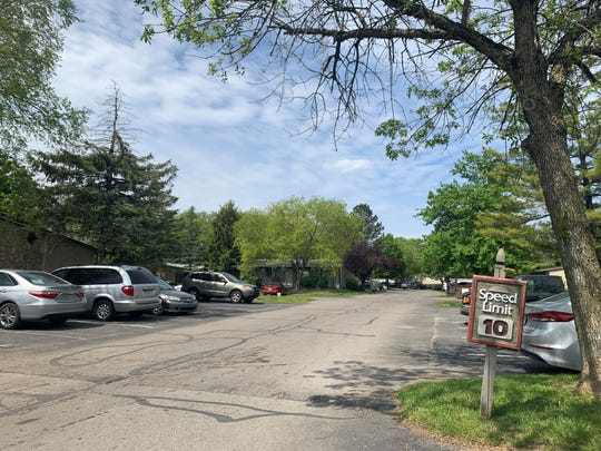 Autumn Trails Apartments on Saturday, May 15, one day after a fatal police shooting took place.