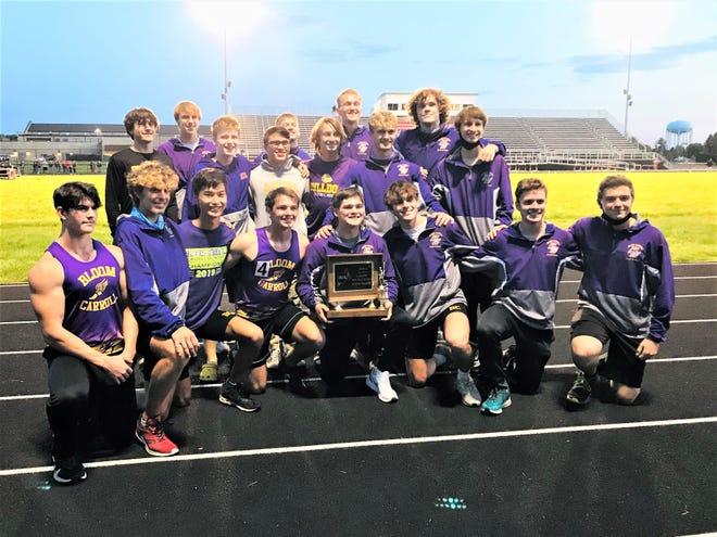 The Bloom-Carroll boys' track and field team won the Mid-State League-Buckeye Division championship Friday night at Circleville High School. It was the Bulldogs' first league title since 1984.