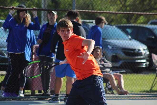 Galion's Matt Gimbel was one of four Tiger tennis players to earn All-Mid-Ohio Athletic Conference first-team honors.