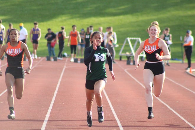 Madison's Nevaeh Lewis will compete in three events at this week's Division I Amherst Regional.