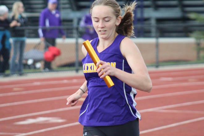 Joanna Halfhill and Lexington's girls 4x800-meter relay team punched their ticket to state with a second-place finish at the first day of the Division I Amherst Regional on Wednesday.
