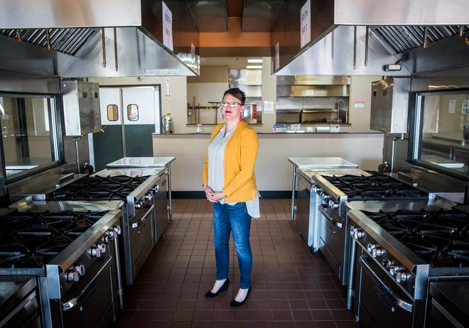 Kimberly Ferguson founded Pink Leaf Learning in 2012. The company is offering commercial restaurant space for local restaurant owners in the Patterson Building.