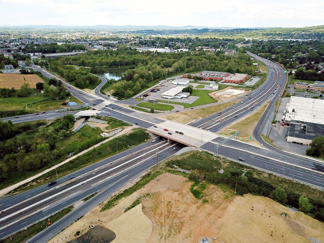 Mount Rose Avenue at the I-83 interchange in Springettsbury Township, Saturday, May 15, 2021. Dawn J. Sagert photo