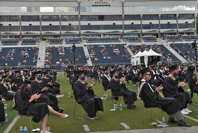 Students graduate at the UNR Spring 2021 Commencement on May 13, 2021.