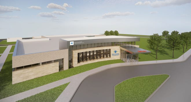 An artist's rendering shows what the new Intermountain Healthcare campus is expected to look like when it is built in Hurricane.