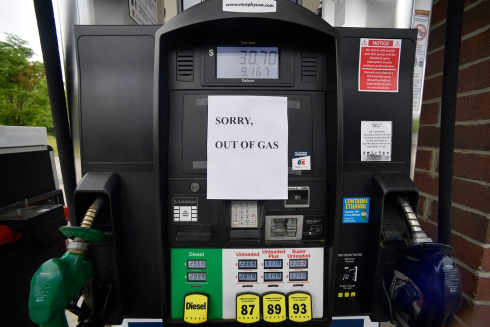 A Murphy Oil gas station in Kennesaw, Ga., was out of gas on Tuesday, May 11, 2021, following the Colonial Pipeline shutdown.
