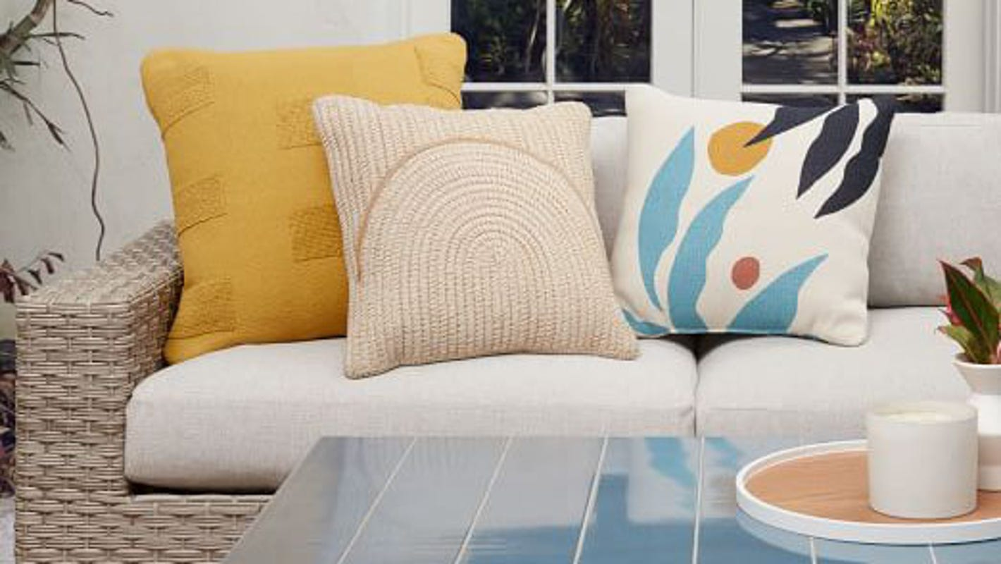 Patio décor can totally change your outdoor space—and it's all on sale at West Elm
