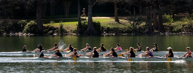 Texas has won 10 Big 12 rowing championships, including six straight sweeps.