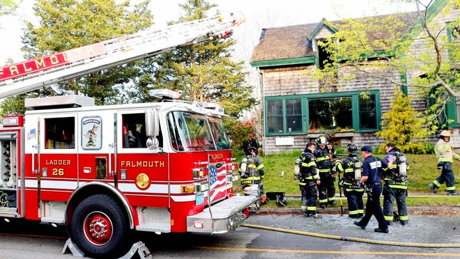 No one was injured in a fire at a home at 26 Albatross Street in Woods Hole Sunday morning. The fire left the home uninhabitable.