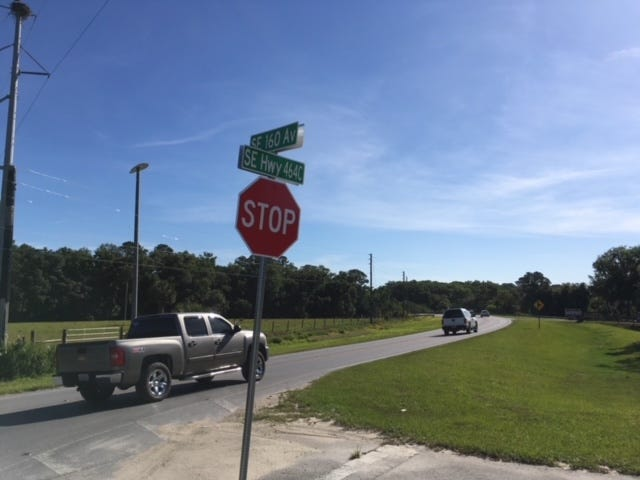 This is the Ocklawaha intersection where a motorcyclist was killed Saturday night.