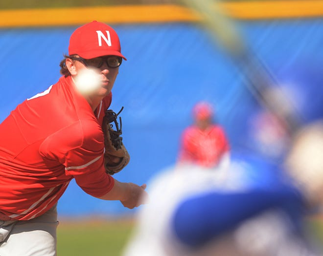 NFA's Griffin Pontbriant tossed a two-hit shutout to lead the Wildcats to a 6-0 win against Montville on Saturday.