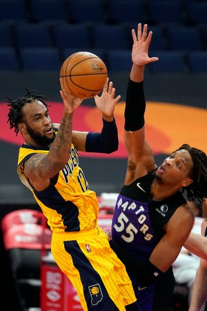 Oshae Brissett played for the Fort Wayne Mad Ants this season, thenwas brought in by the injury-ravaged Pacers in April. He took advantage of his opportunity, averaging 9.9 points and 5.3 rebounds. He's due $3.5 million over the next two seasons (not guaranteed).