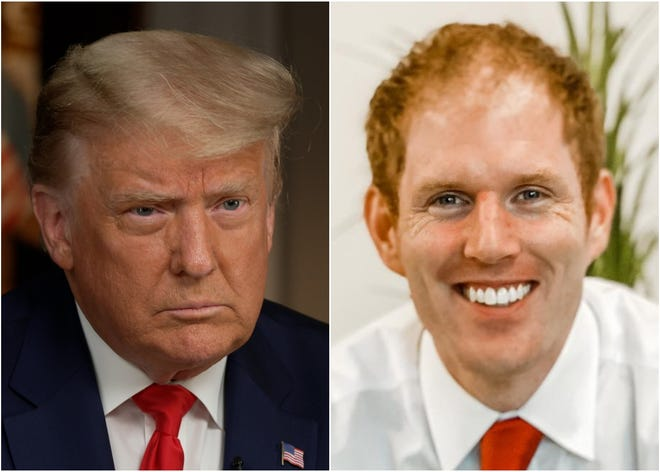 Donald Trump (left) and Maricopa County Recorder Stephen Richer