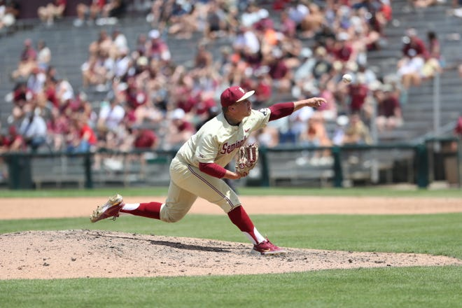 FSU pitcher Parker Messick allowed a season-high six runs in the Seminoles' series finale against Clemson on May 16, 2021.