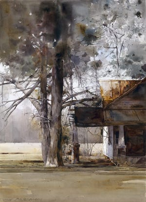 Best of Show Award: Dean Mitchell (Tampa, FL), Hidden, 2019, watercolor, 22 x 30 inches at the 44th Southern Watercolor Society exhibition at Gadsden Arts.